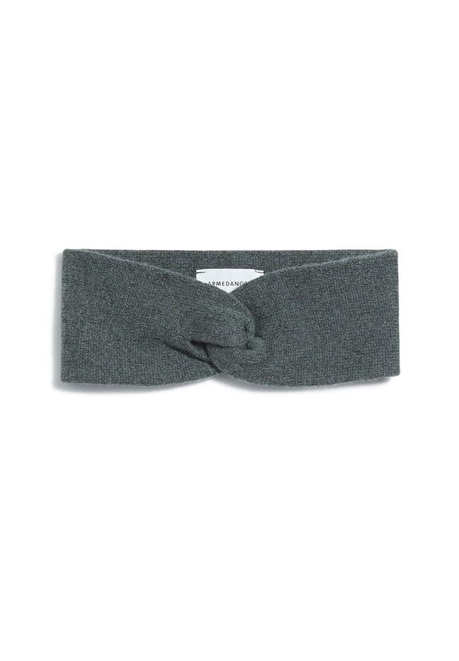 Bandeau mélange vert gris en coton bio et laine - maritaa - Armedangels