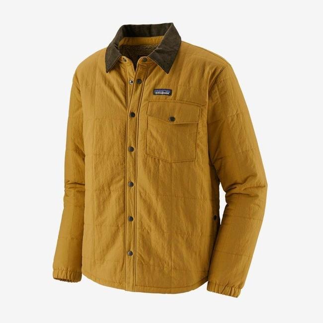 Veste avec doublure polaire moutarde en nylon et polyester recyclé - isthmus - Patagonia