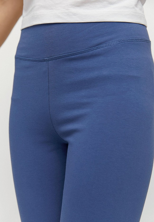 Legging bleu indigo en coton bio - faribaa - Armedangels num 2