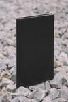 Portefeuille noir en cuir recyclé - flat purse - Walk with me - 3