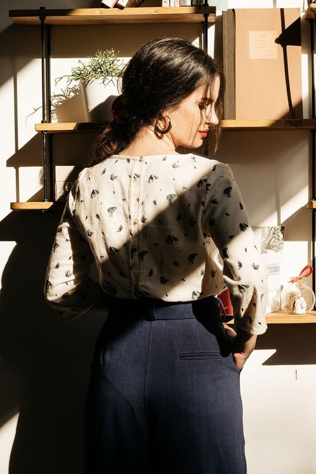 Le Pantalon Zephyr en coton bio - rouge - Atelier Unes num 3
