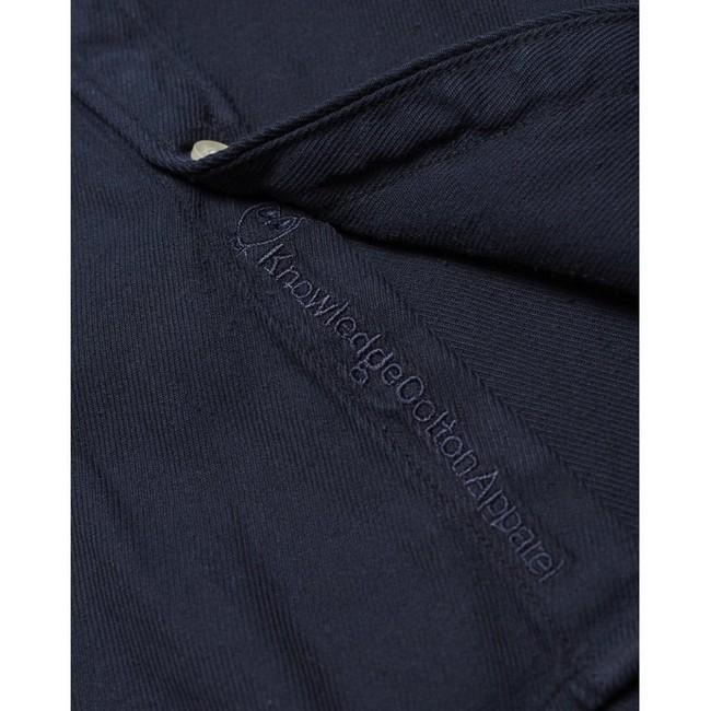 Chemise à manches courtes bleu nuit en tencel et coton bio - larch - Knowledge Cotton Apparel num 2