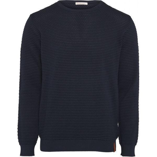Pull bleu nuit en coton bio - sailor pattern knit - Knowledge Cotton Apparel
