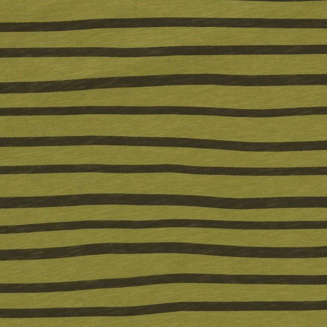 T-shirt en coton bio kaki esperanza ls - Bask in the Sun num 2