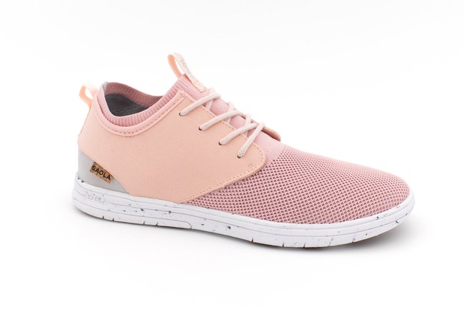 Chaussures recyclées semnoz ii femme rose gold - Saola