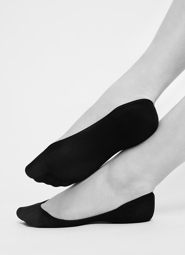 Socquettes 70 deniers noires recyclées - ida - Swedish Stockings num 1