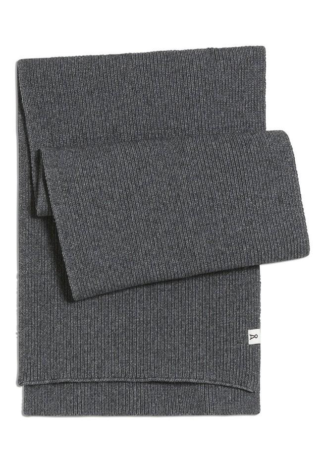 Echarpe grise en coton bio et laine - fredaa - Armedangels