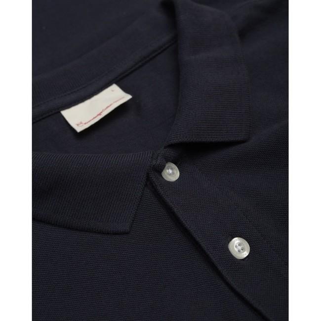 Polo bleu nuit en coton bio - Knowledge Cotton Apparel num 2