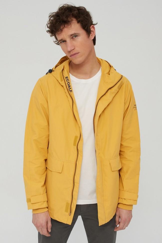 Veste jaune en coton bio et nylon recyclé - junabee - Ecoalf num 4