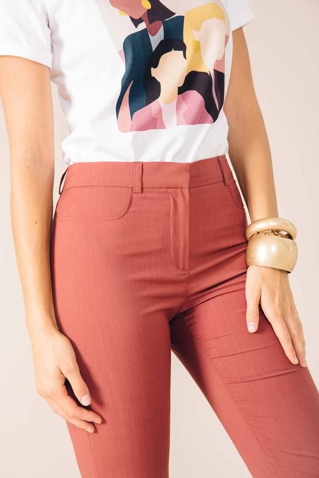 Pantalon tailleur new-york rose brique - 17h10