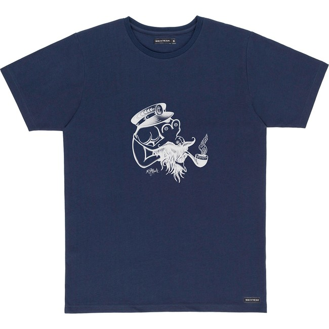 T-shirt en coton bio navy flipgirl - Bask in the Sun