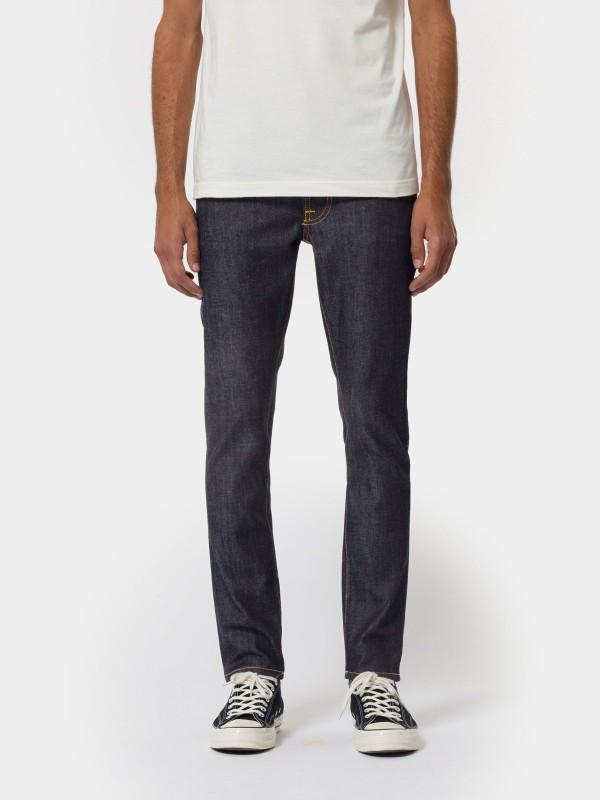 Jean slim brut en coton bio - lean dean dry japan selvage - Nudie Jeans