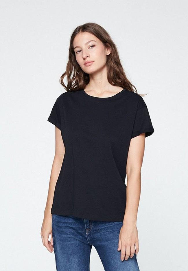 T-shirt noir en coton bio - naalin - Armedangels