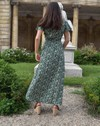 Robe longue zady manches papillons 100% viscose, imp. feuilles - Aatise - 2