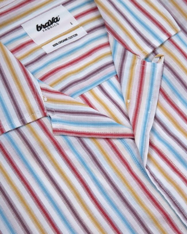 Downtown stripes aloha shirt - Brava Fabrics num 2