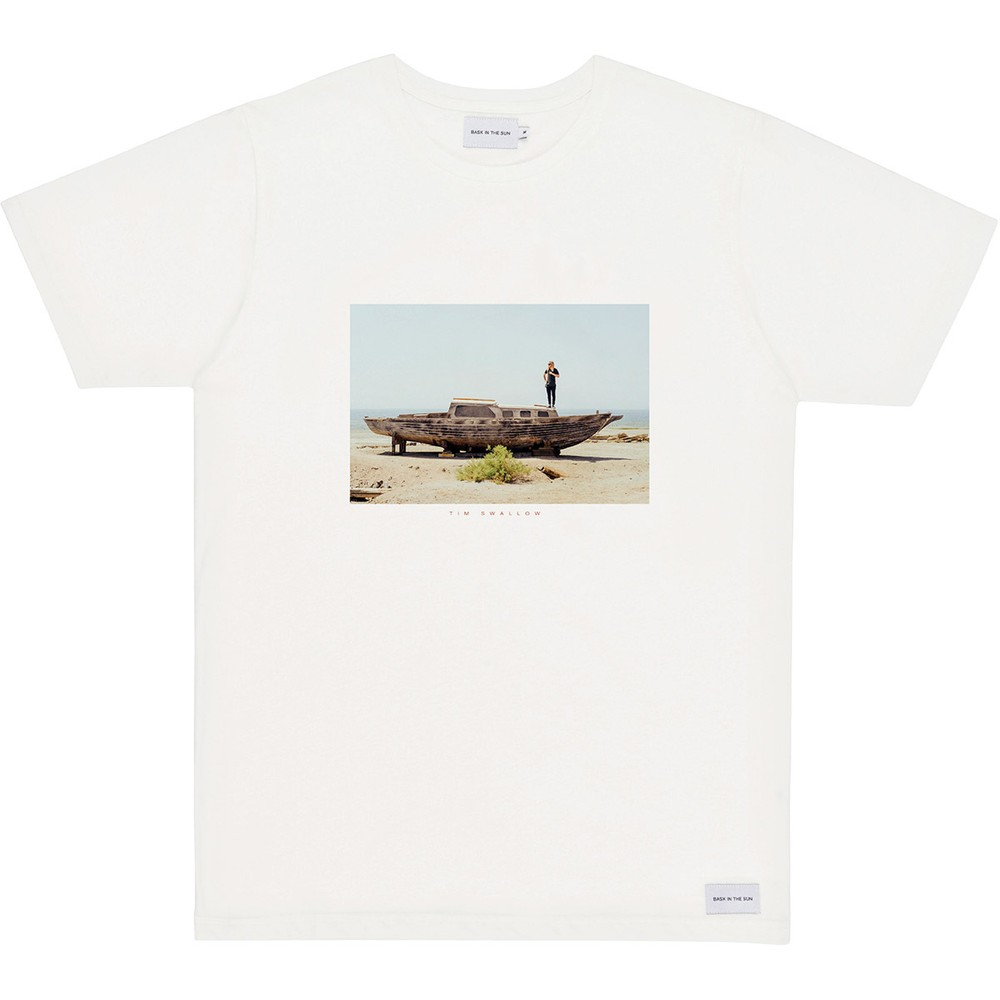 T-shirt en coton bio natural desert boat - Bask in the Sun