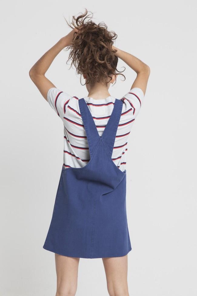 Robe unie bleue en coton bio - amelie - Thinking Mu num 1