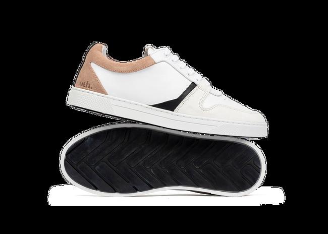 Chaussure en glencoe cuir blanc / suède nude - Oth