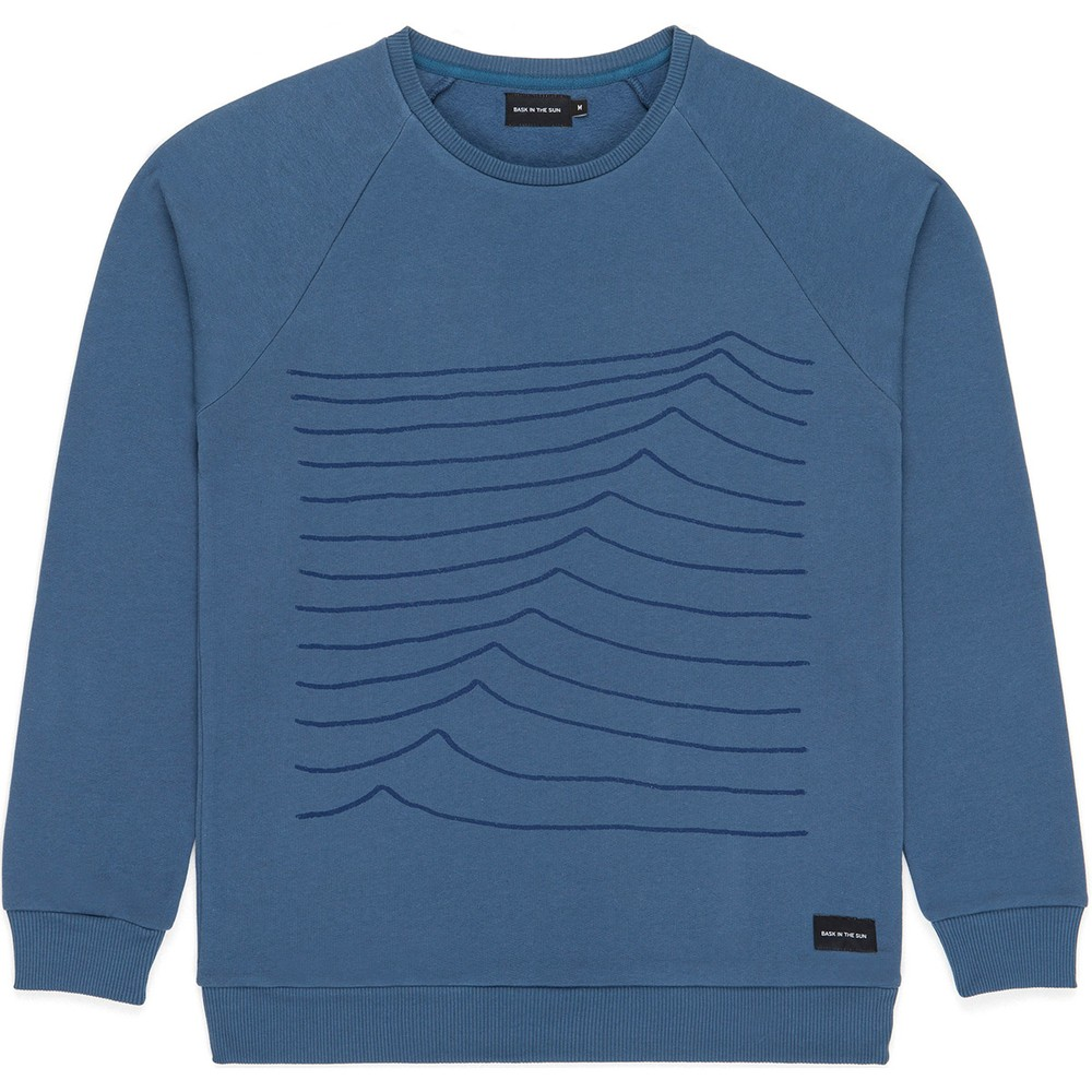 Sweat en coton bio blue swell - Bask in the Sun