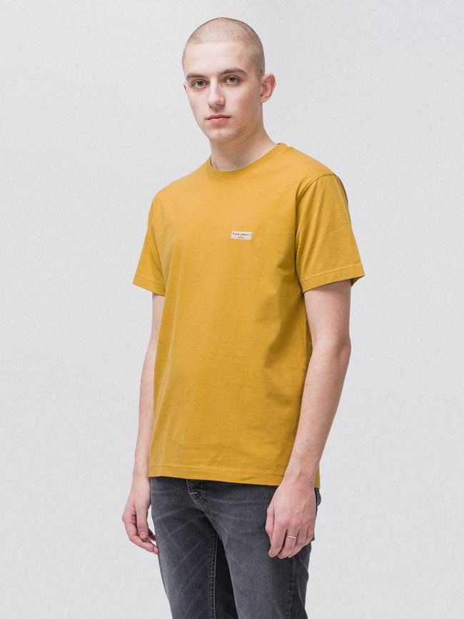 T-shirt jaune en coton bio - daniel - Nudie Jeans num 1