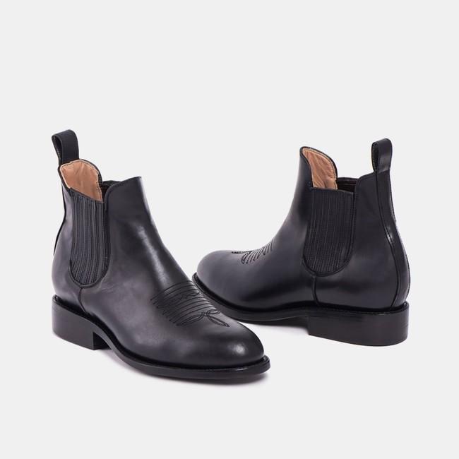 Carlos charro boot black - Cano num 2