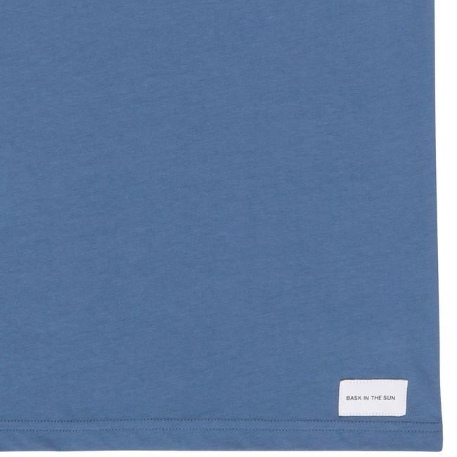 T-shirt en coton bio blue teofilo - Bask in the Sun num 3