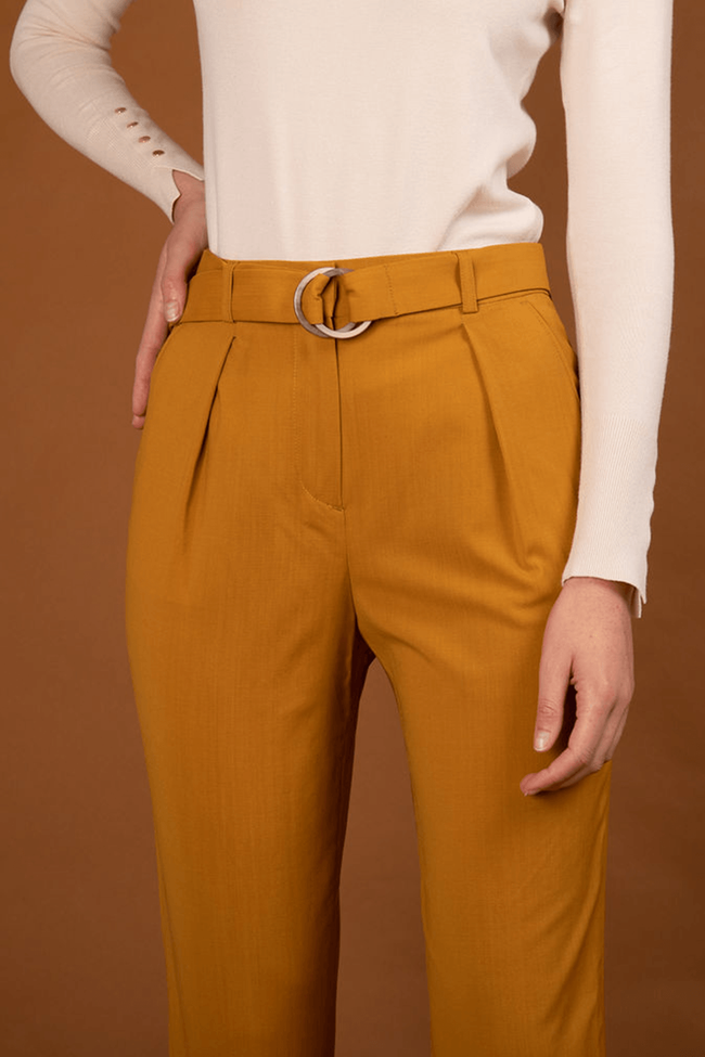 Pantalon tailleur casablanca jaune safran - 17h10 num 2
