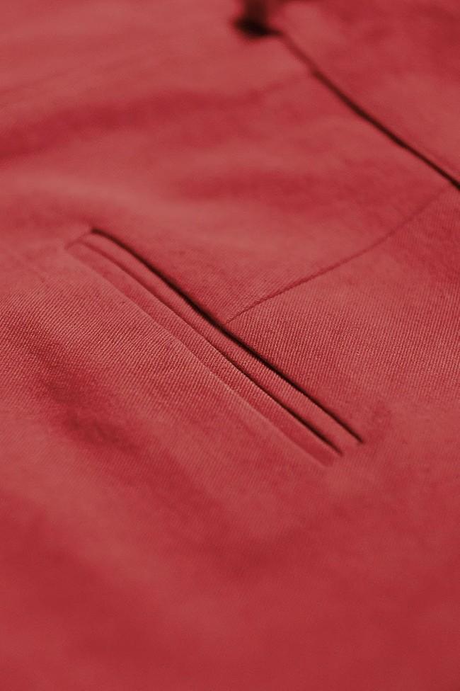 Pantalon  rouge en coton bio - Atelier Unes num 3