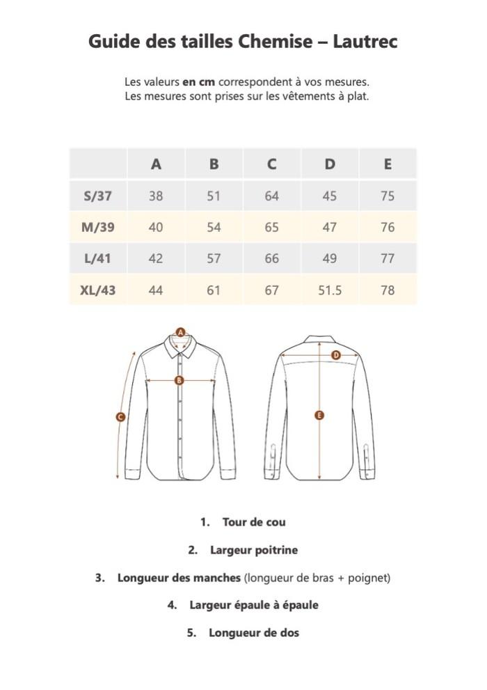 Guide de taille Lautrec