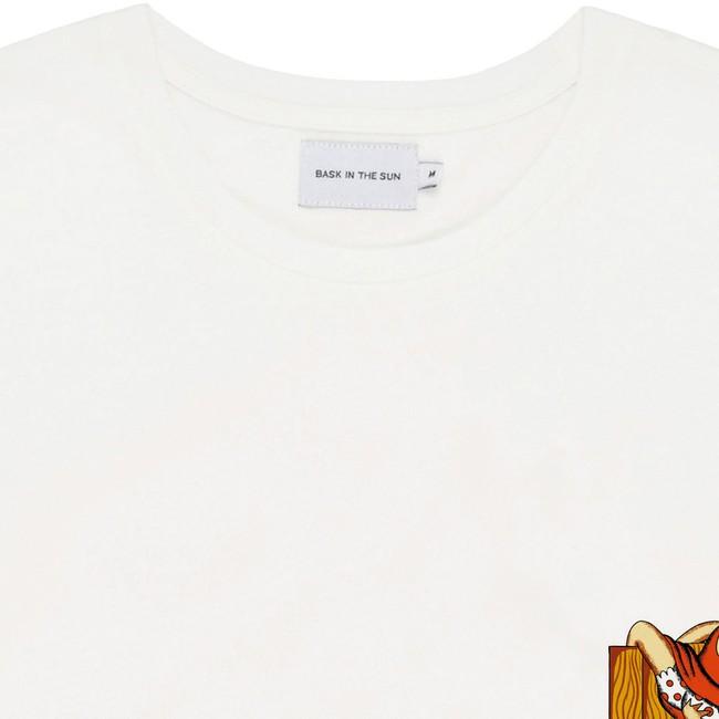 T-shirt en coton bio natural fence pocket - Bask in the Sun num 1