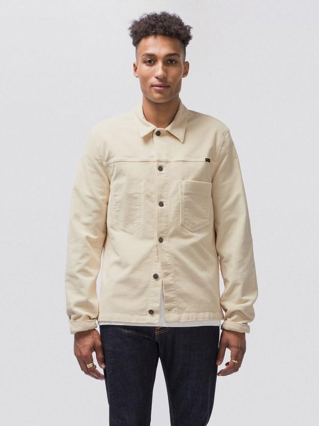 Veste en velours écru en coton bio - ronny - Nudie Jeans num 1