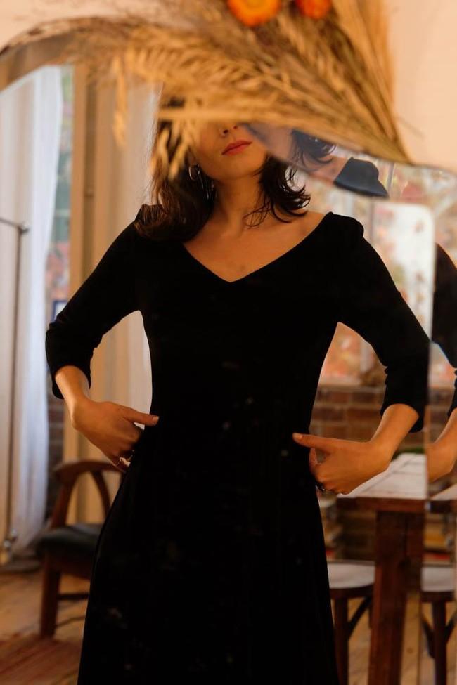 La Robe Ecume en coton bio - rouge - Atelier Unes num 1