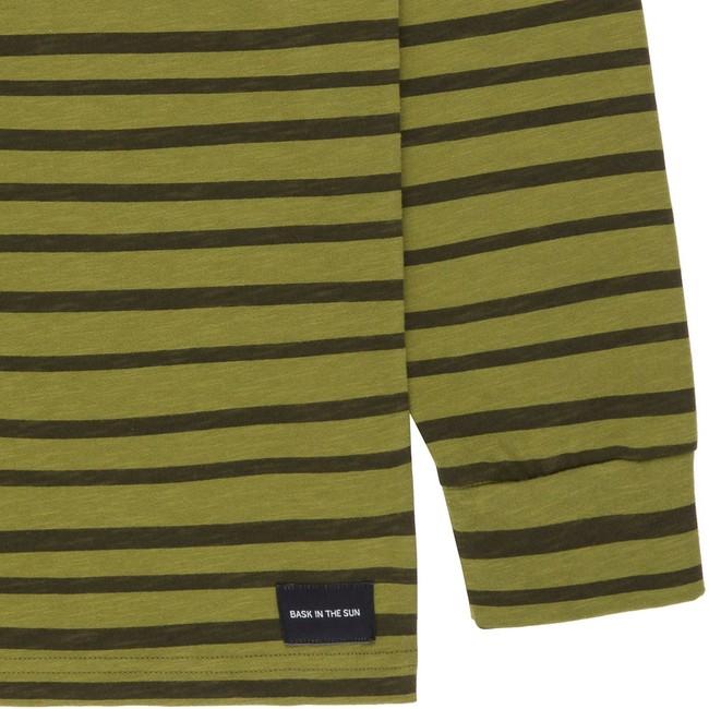 T-shirt en coton bio kaki esperanza ls - Bask in the Sun num 3