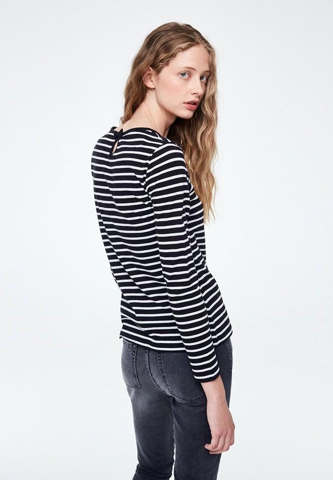 T-shirt manches longues rayé - valentina stripes - Armedangels num 1