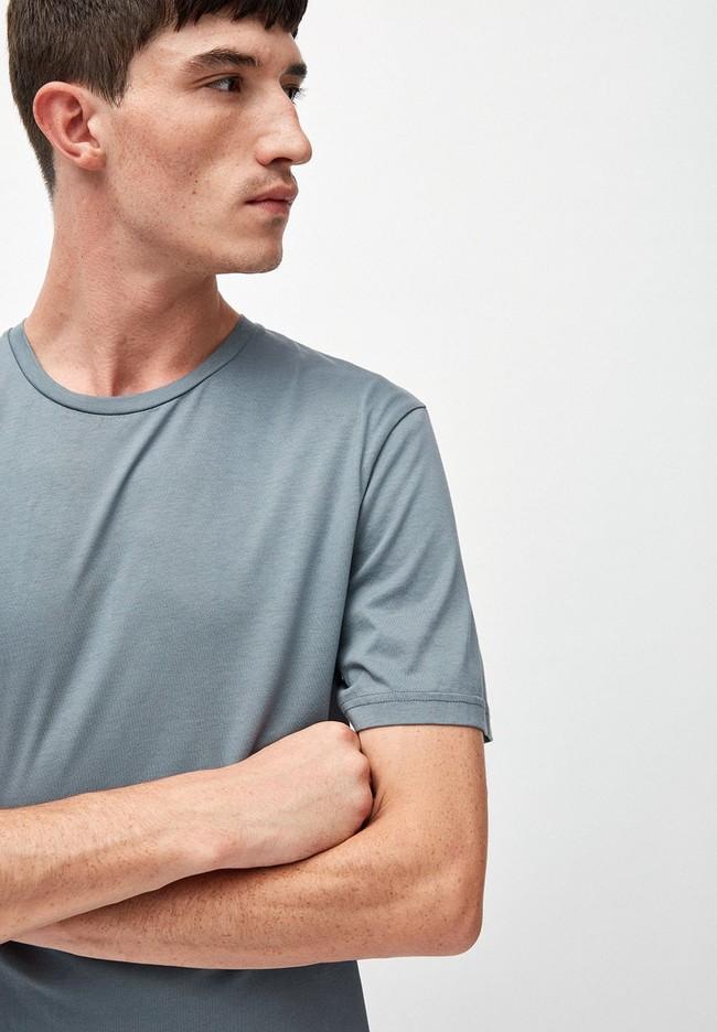 T-shirt bleu en coton bio - jaames - Armedangels num 1