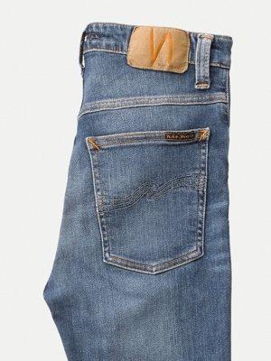 Jean skinny taille haute bleu clair délavé - hightop tilde mid indigo - Nudie Jeans num 4
