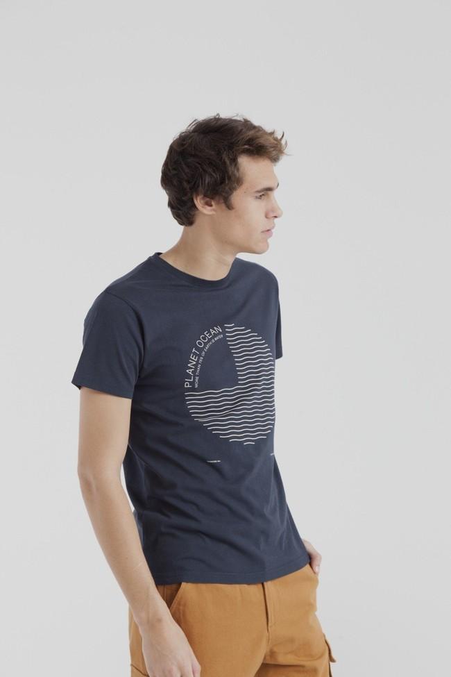 T-shirt marine en coton bio - planet ocean - Thinking Mu num 2
