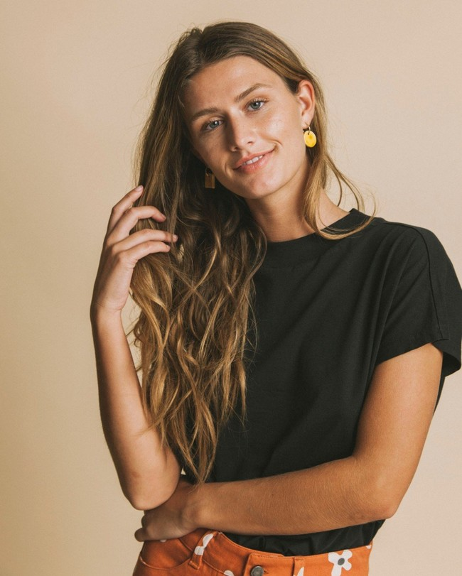 T-shirt noir en coton bio - volta - Thinking Mu num 3