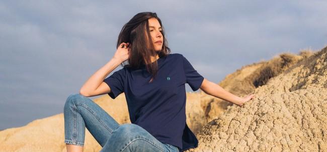 T-shirt recyclé - classique navy - Hopaal num 4