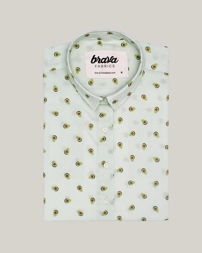 Avocado cocktail printed blouse - Brava Fabrics