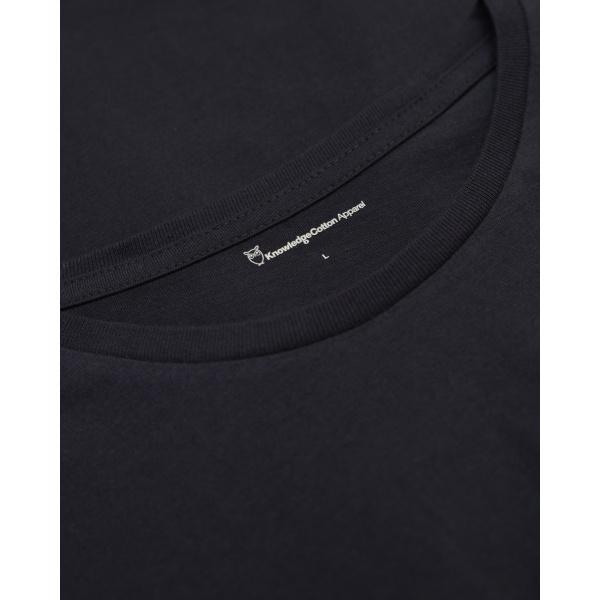 T-shirt bleu nuit en coton bio - Knowledge Cotton Apparel num 3