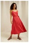 Robe longue rouge en tencel et coton bio - marcy - People Tree - 2