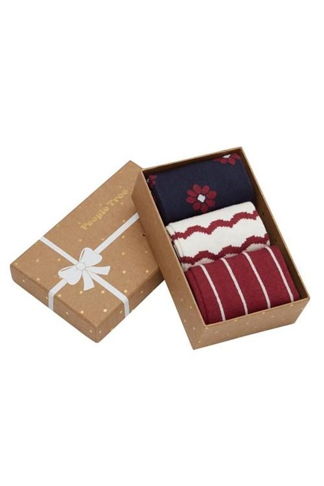 Pack 3 paires de chaussettes en coton bio - daisy - People Tree