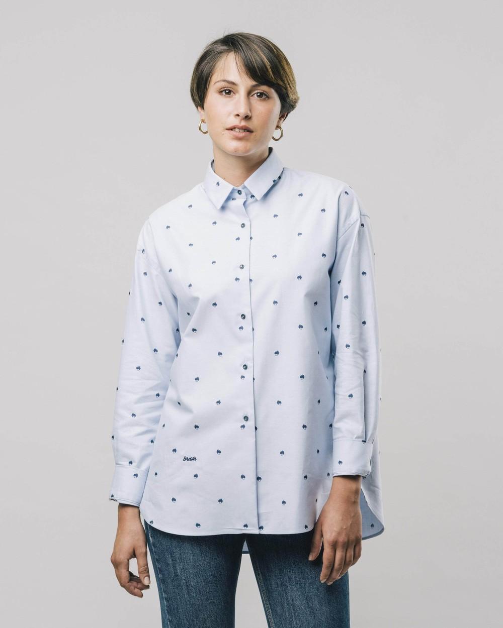 Yoko printed blouse - Brava Fabrics