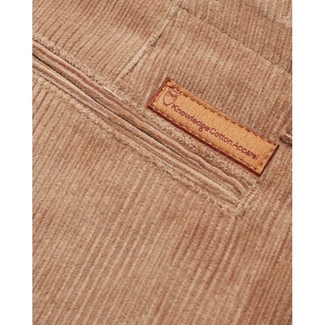 Chino velours marron en coton bio - Knowledge Cotton Apparel num 3