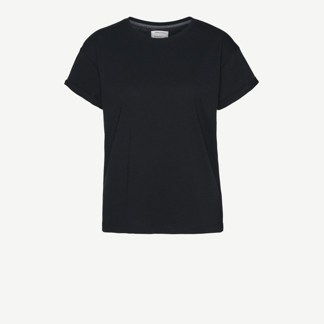 T-shirt noir en coton bio - naalin - Armedangels num 5