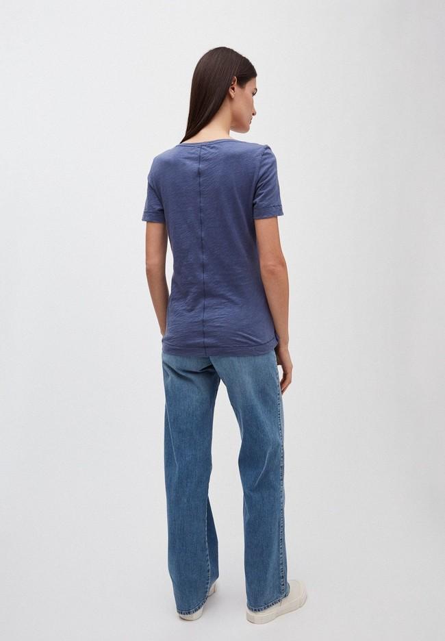 T-shirt bleu indigo en coton bio - johannaa - Armedangels num 1