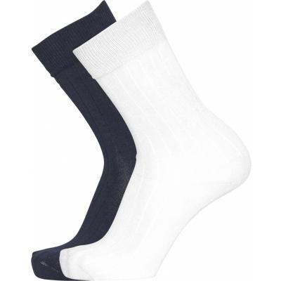 Pack 2 paires de chaussettes blanc et noir en coton bio - timber - Knowledge Cotton Apparel