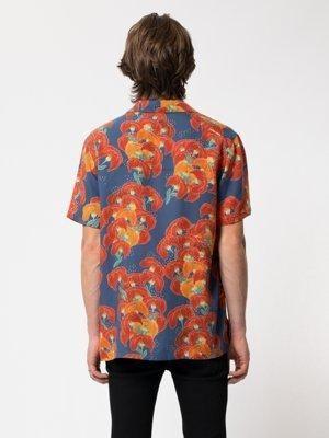 Chemise manches courtes à fleurs en tencel  - arviid - Nudie Jeans num 2