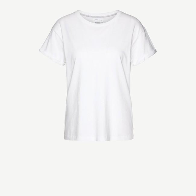 T-shirt blanc coton bio - naalin - Armedangels num 5